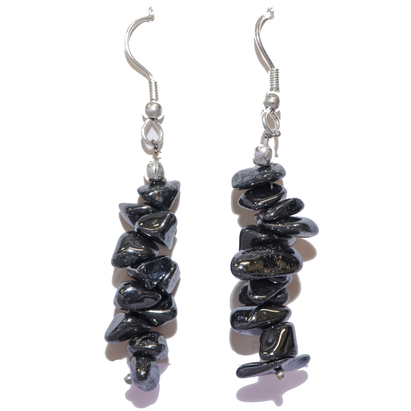 Hematite Chip Earrings