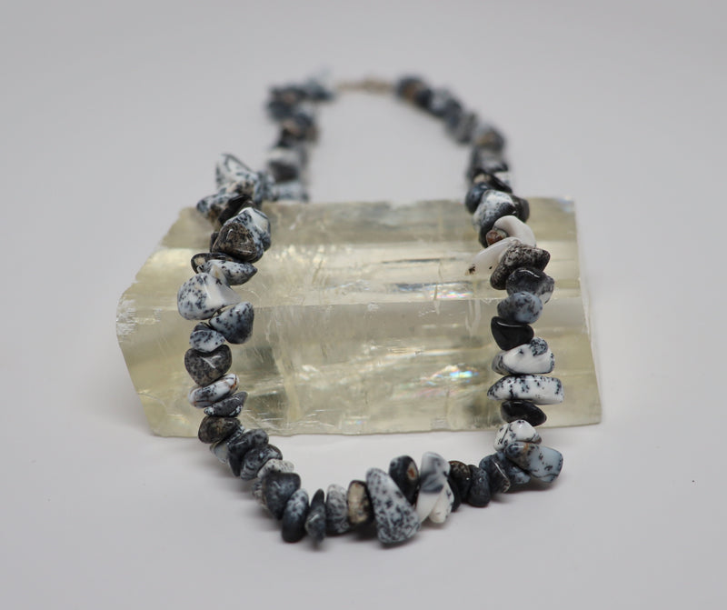 Dendritic Opal Necklace Crystal Beaded Chip | Dinomite Rocks and Gems