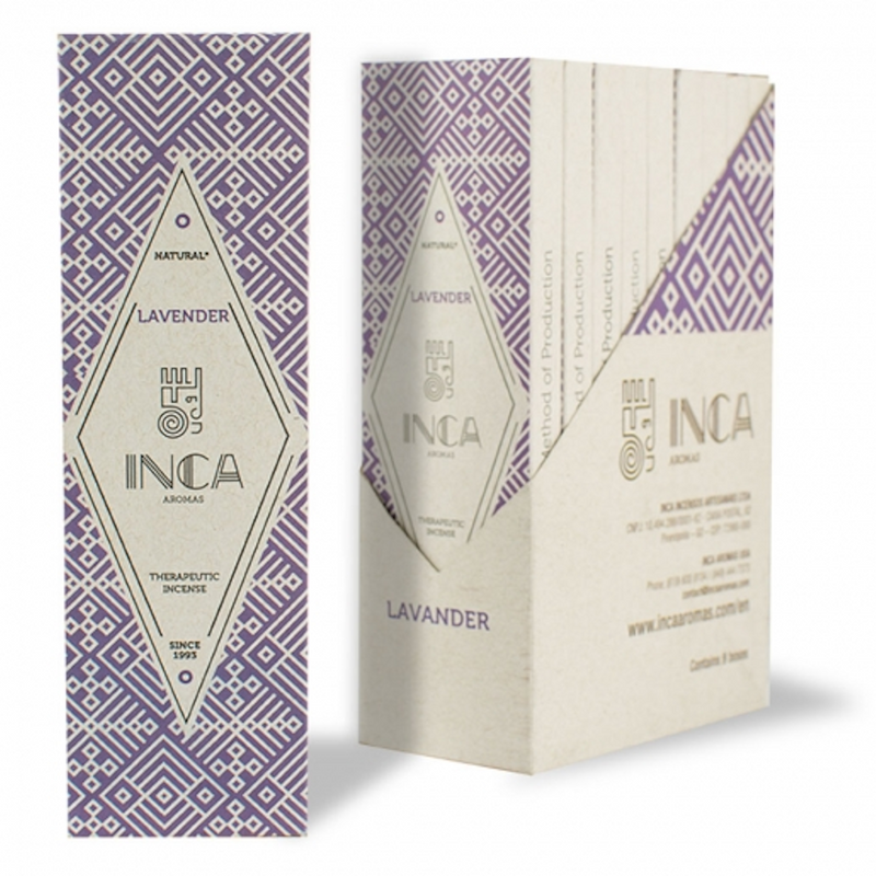 Inca Aromas Therapeutic Incense 19 gr - Lavender (4 sticks)