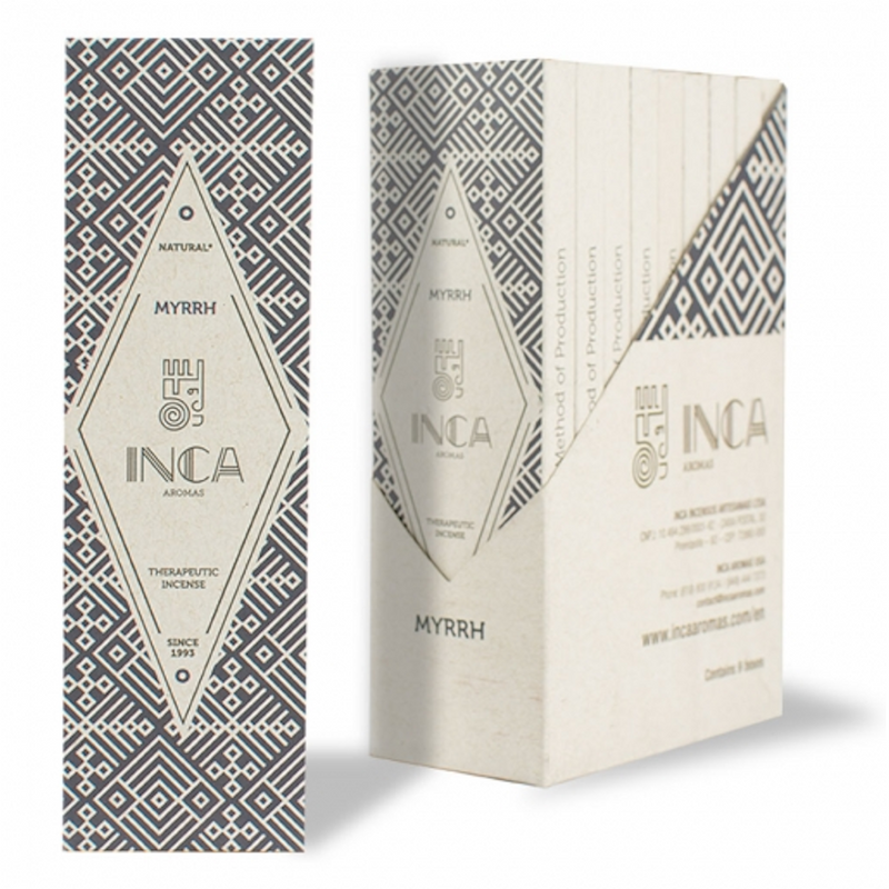 Inca Aromas Therapeutic Incense 19 gr - Myrrh (4 sticks)