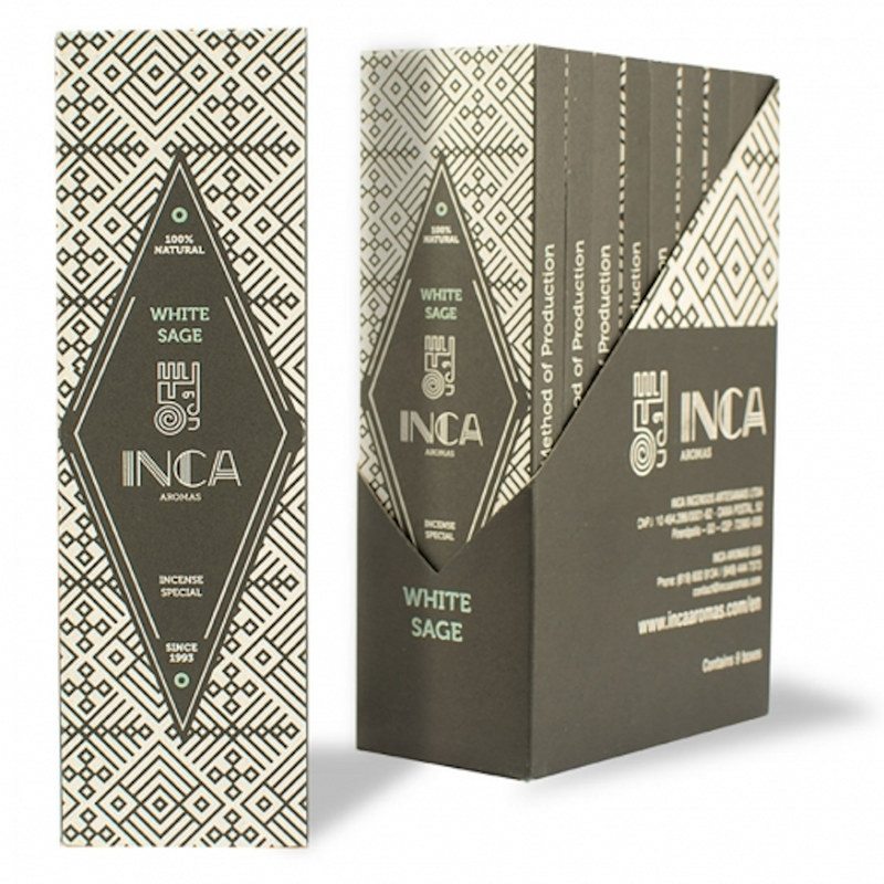 Inca Aromas Special Incense 19 gr - White Sage (4 sticks)