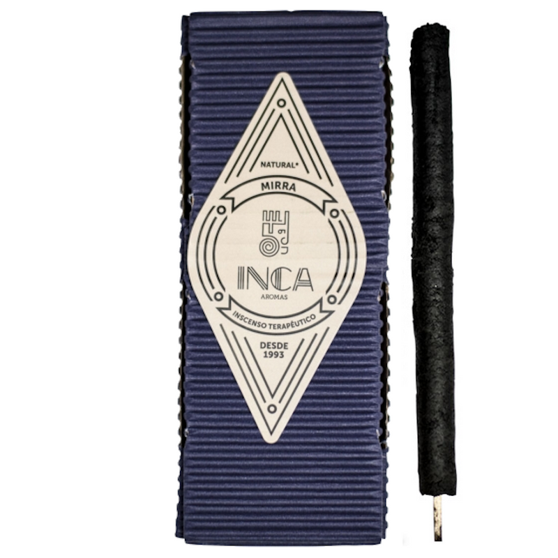 Inca Aromas Therapeutic Incense 38 gr - Myrrh (Large Pack 9 sticks)