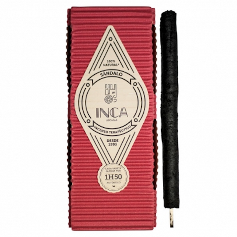 Inca Aromas Therapeutic Incense 38 gr - Sandalwood (Large Pack 9 sticks)