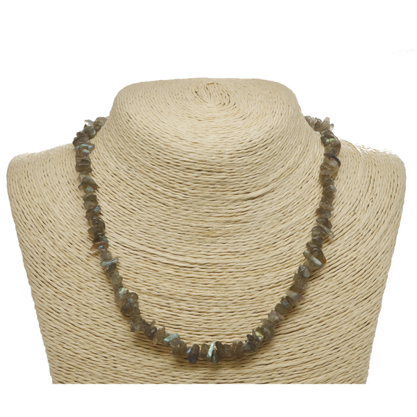 Labradorite Natural Beaded Chip Necklace