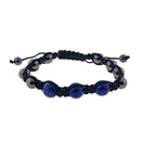 Lapis Hematite Magnetic Adjustable Bracelet