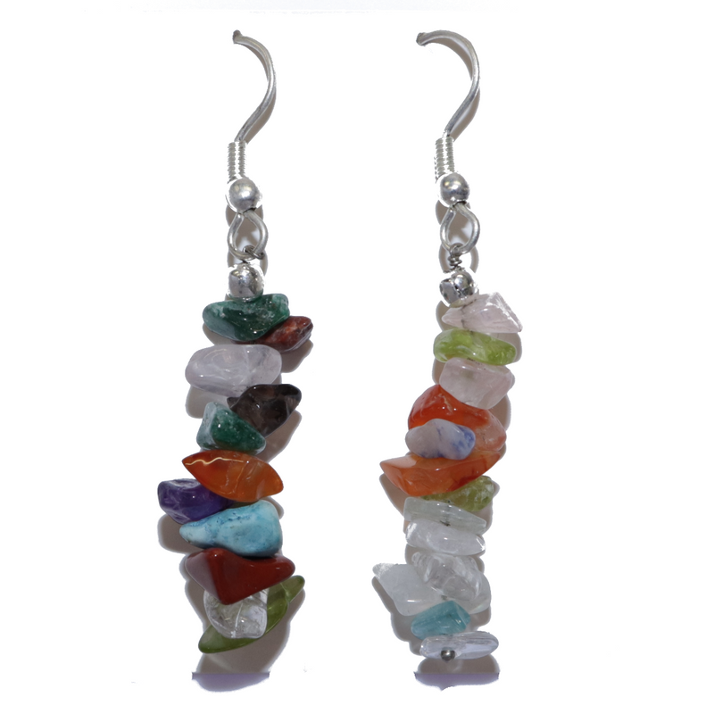 Mixed Stone Chip Earrings For Sale | Dinomite Rocks and Gems