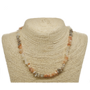 Multi Color Moonstone Natural Beaded Chip Necklace