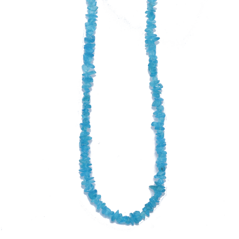 Neon Apatite Beaded Necklace For Sale | Dinomite Rocks and Gems