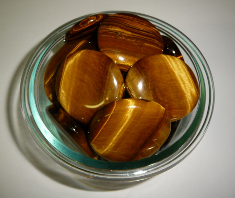Tigers Eye Gold Smooth Stone