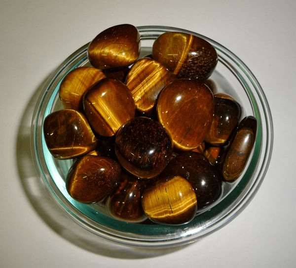 Tigers Eye Gold Tumbled Stone