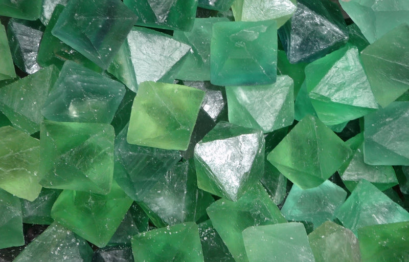 Fluorite Octahedron Green Sacred Geometry Metaphysical Healing Stone Crystal | Dinomite Rocks and Gems