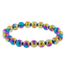 Rainbow Hematite Beaded Bracelet | Dinomite Rocks and Gems