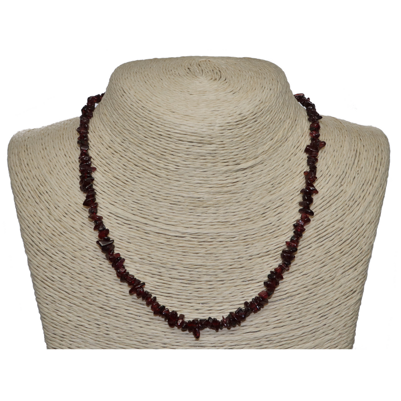 Red Garnet Beaded Necklace For Sale | Dinomite Rocks and Gems