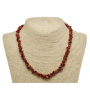 Red Jasper Natural Beaded Chip Necklace