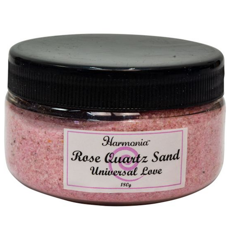 Rose Quartz Gemstone Sand Jar for Sale | Dinomite Rocks and Gems