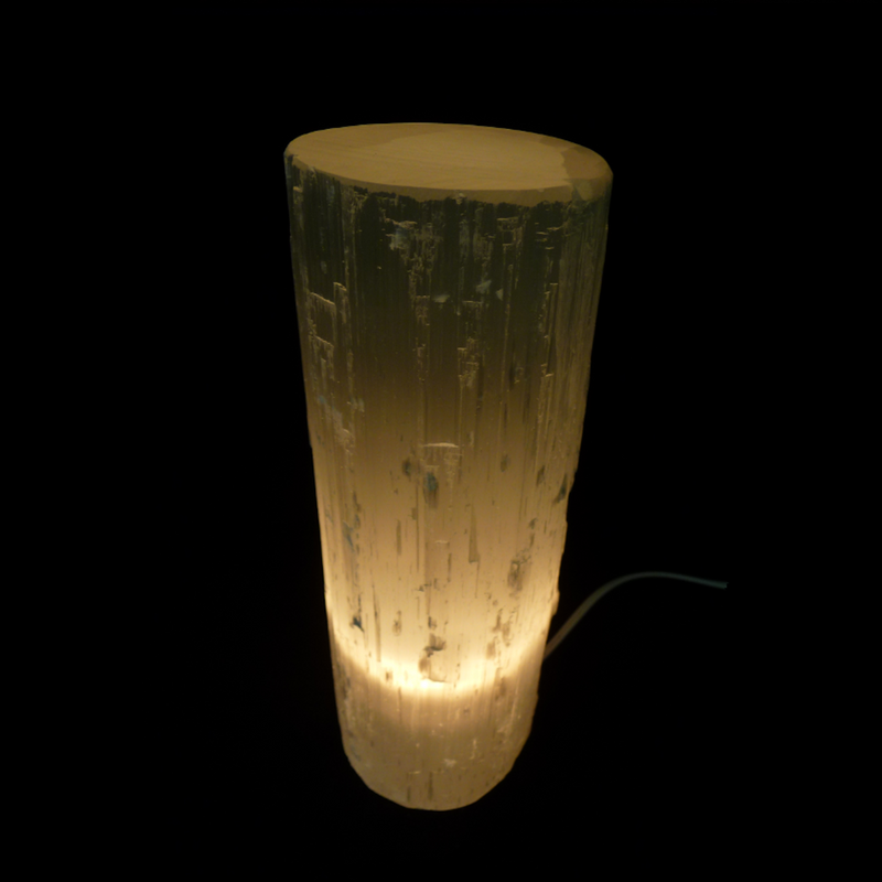 Selenite Lamp - Round