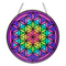 Glass Suncatcher 6in - Flower of Life