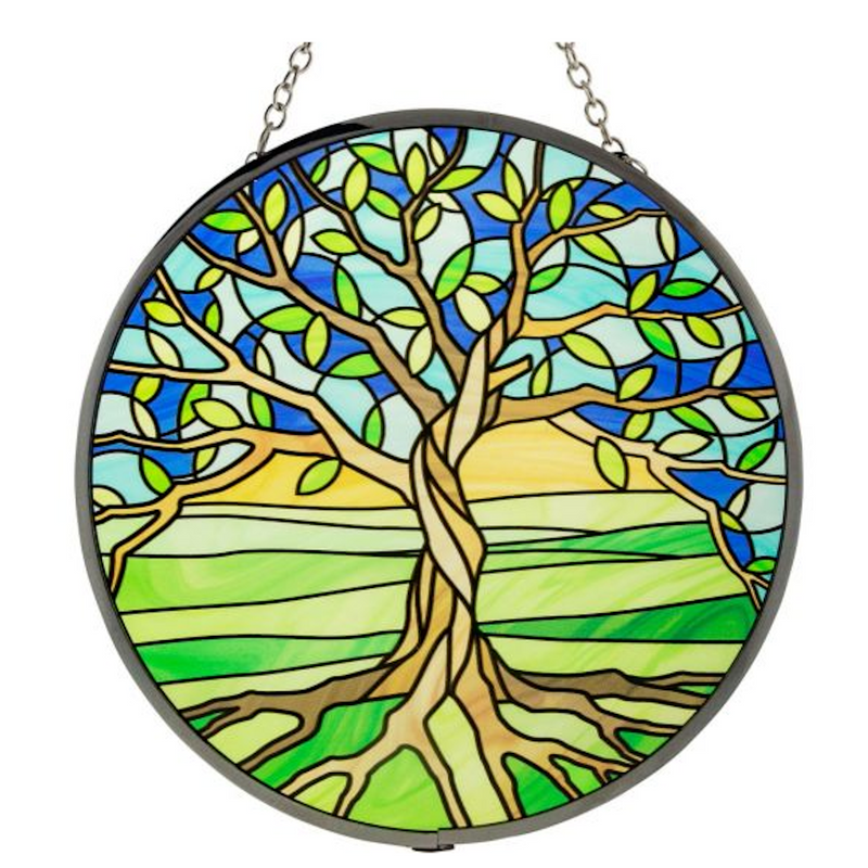 Glass Suncatcher 6in - Tree of Life