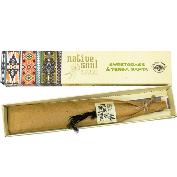 Green Tree Native Soul Incense - Sweetgrass & Yerba Santa 15gr