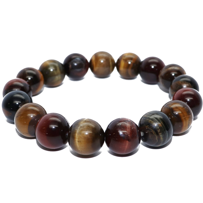 Tiger Eye Natural Beaded Bracelet (Men's)