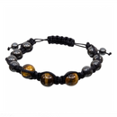 Tiger Eye Hematite Magnetic Adjustable Bracelet