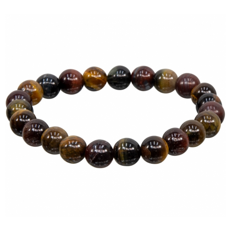 Tiger Eye Tri Color Natural Beaded Bracelet