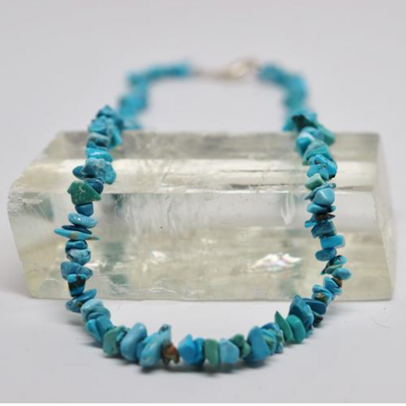 Turquoise Natural Beaded Chip Necklace