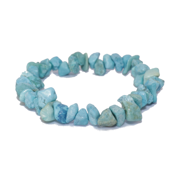 Turquoise Natural Chip Bracelet Jewelry | Dinomite Rocks and Gems