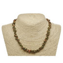 Unakite Natural Beaded Chip Necklace