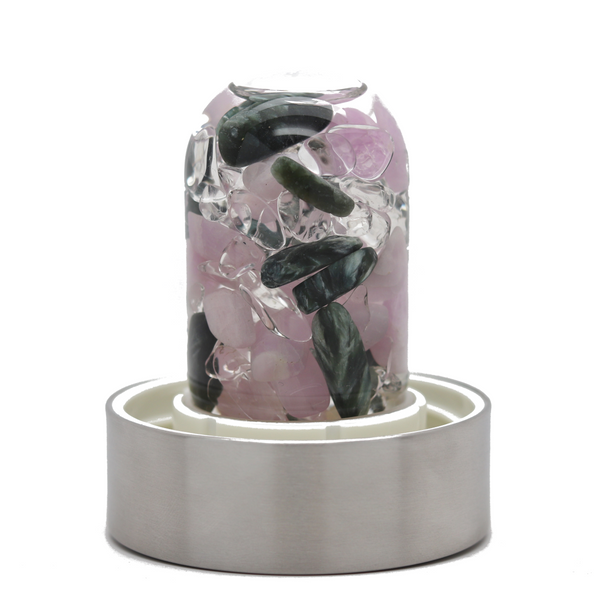 Vitajuwel Water Bottle - Seraphinite, Kunzite and Clear Quartz