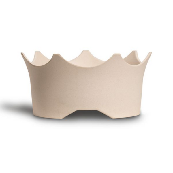 CrownJuwel – A GemWater Bowl for 4-legged Royals to raise your best friend's enthusiasm for healthy water. Natural White