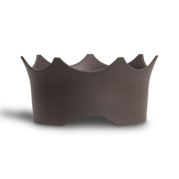 CrownJuwel – A GemWater Bowl for 4-legged Royals to raise your best friend's enthusiasm for healthy water. Slate Grey