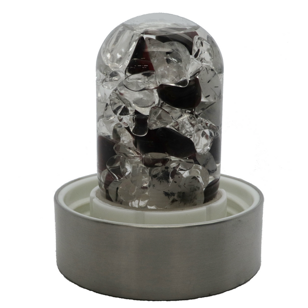 Vitajuwel Water Bottle - Garnet, Black Tourmaline in Quartz and Clear Quartz