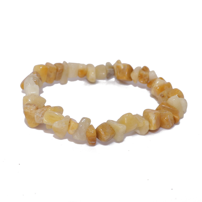Yellow Jasper Natural Chip Bracelet Jewelry | Dinomite Rocks and Gems