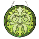 Glass Suncatcher 6in - Green Man Celtic