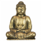 Golden Meditating Buddha Polyresin Statue