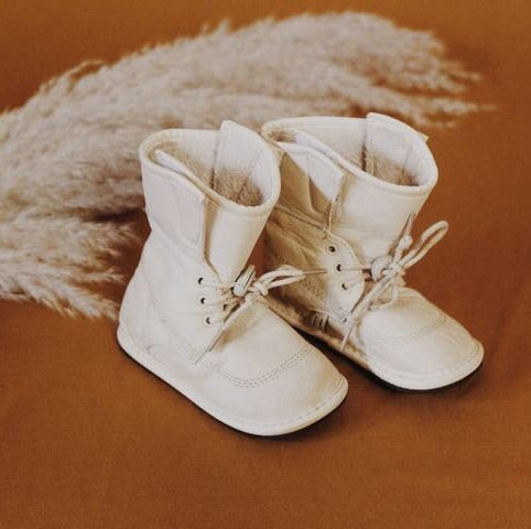 White Leather Boots