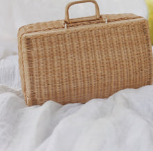 Load image into Gallery viewer, Wicker Suitcase