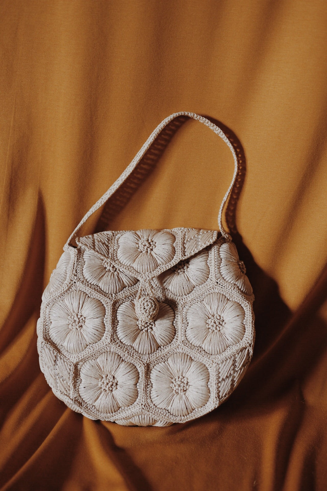 Woven Floral Bag