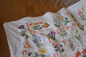 Wildflower Alphabet Embroidery