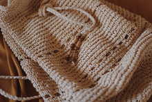 Load image into Gallery viewer, Raffia Drawstring Backpack
