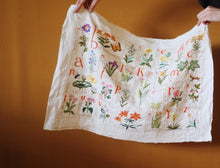 Load image into Gallery viewer, Wildflower Alphabet Embroidery