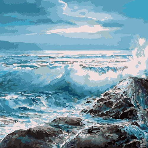 Paint by numbers Art kit - Ocean Waves