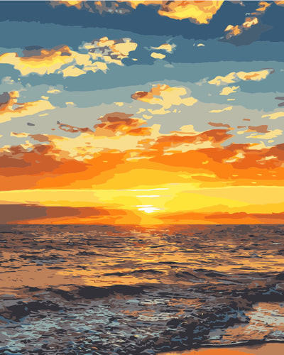 Paint by numbers Art kit - Sunrise at the Beach