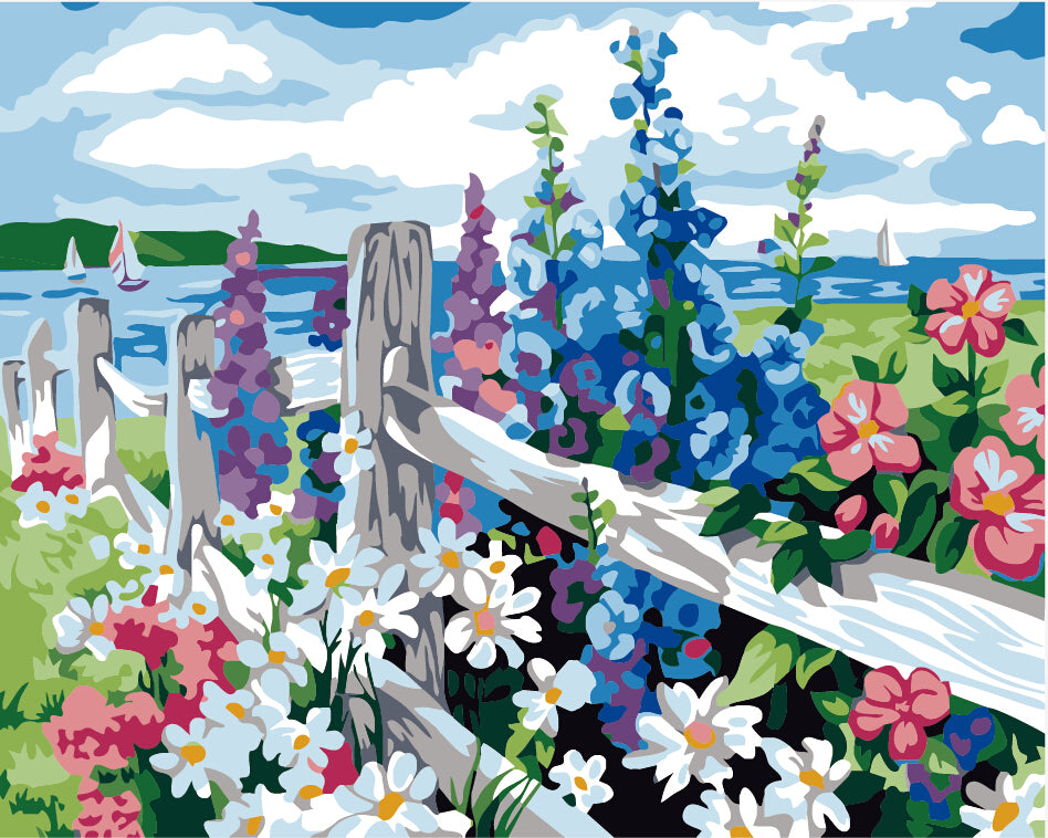 Paint by numbers Art kit - Flower Sea Paint