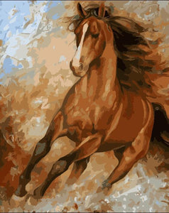 Paint by numbers Art kit - Brown Stallion