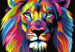 Paint by numbers Art kit - Colourful Lion