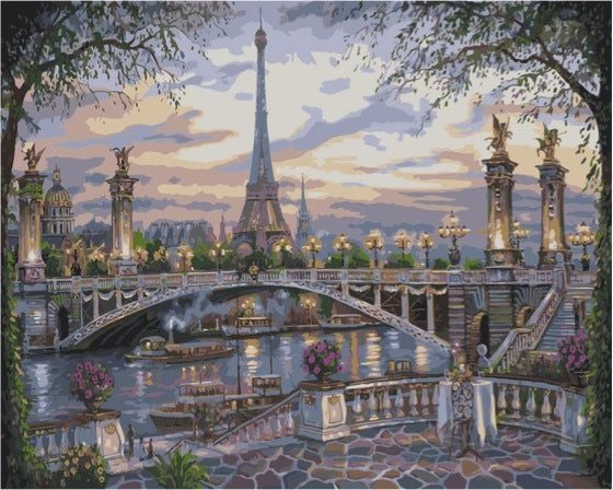 Paint by numbers Art kit - Beautiful Paris