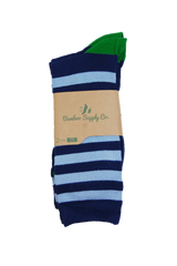 Blue Striped Bamboo Sock