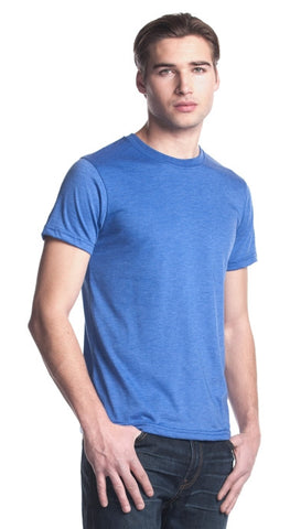 TriBlend Crewneck T-Shirt - Heather Blue